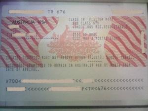visasticker